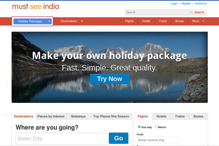 MustSeeIndia - Create your own Package of Good Times