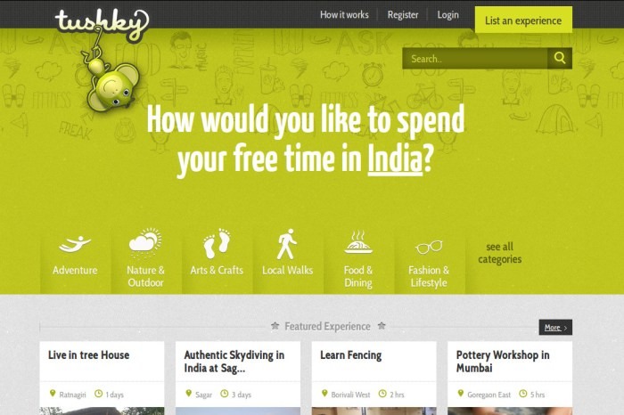 Tushky - Stop Thinking too much of a Weekend Getaway, Just Pick One and Get Going