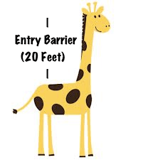 giraffe entry barrier