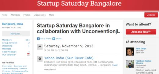 Startup Saturday Bangalore