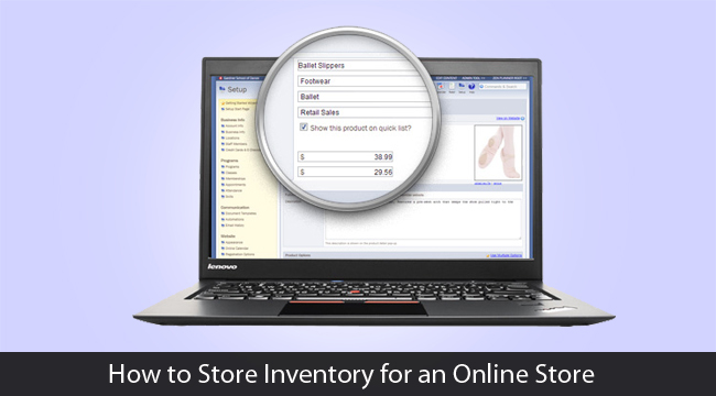 How to Store Inventory for an Online Store