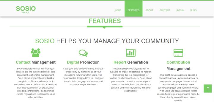 sosio homepage
