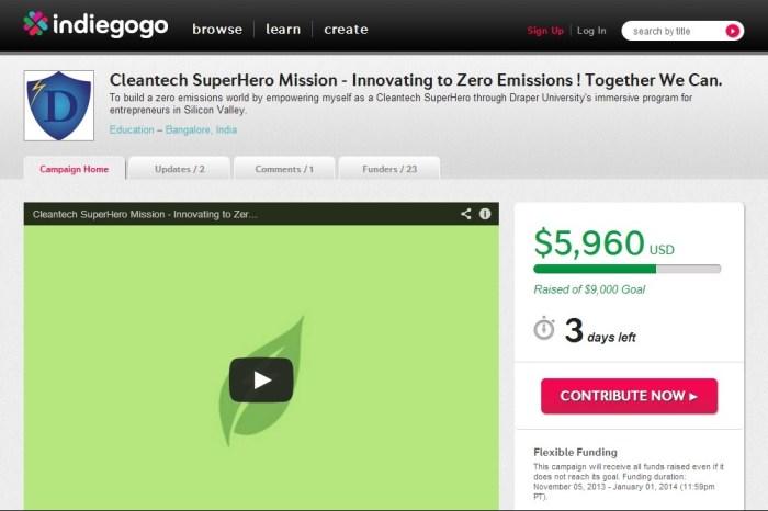 Raman Shrivastava's Cleantech Venture goes Crowdfunding mode for Draper University, needs your support
