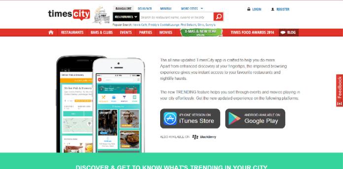 TimesCity Mobile App