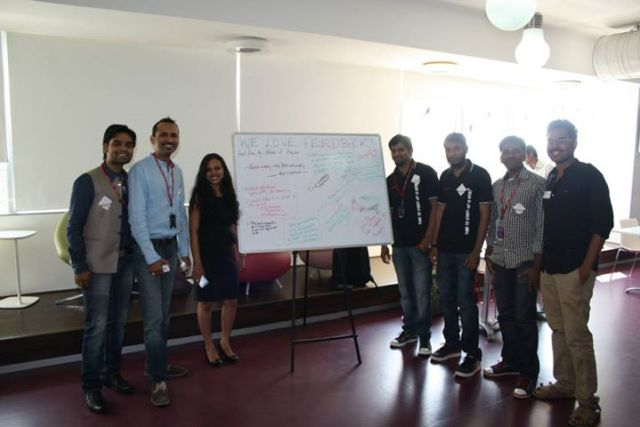 SS Bangalore Volunteers withe the amazing feedback!