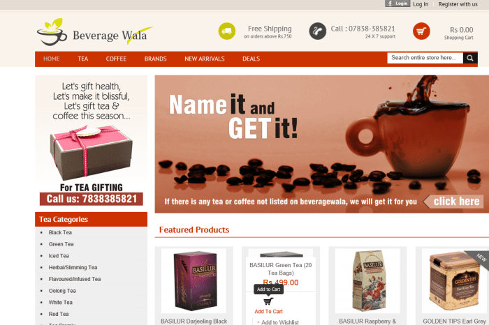 Now, buy Premium Tea and Coffee online at Beveragewala, a niche e-commerce store