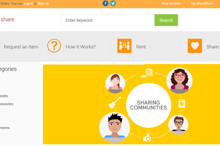 Delhi based IRentShare lets people rent/ share goods within Communities