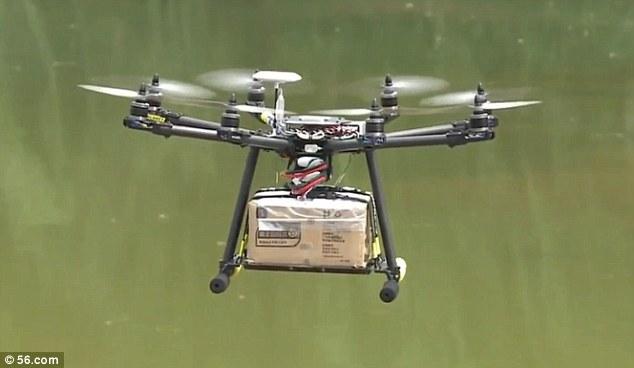 Delivering parcels in China.