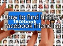 how to find someonefriendlist on facebook who is hidden