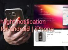 Flashlight notification app for android,iPhone