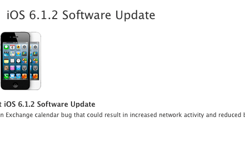 Apple Releases iOS 6.1.2 Software Update