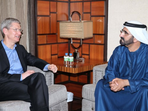 Apple CEO Tim Cook Meets With Ruler of Dubai – His Highness Shaikh Mohammed