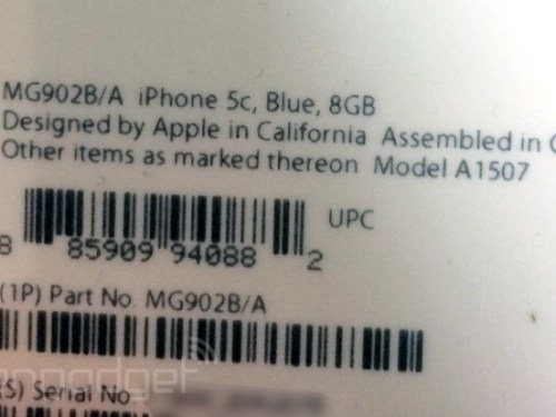 Leaked Image Confirms Apple Will Launch A 8GB iPhone 5c