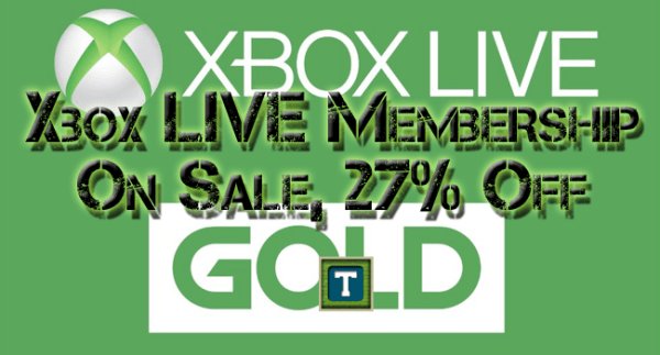 Xbox LIVE Gold Membership On Sale