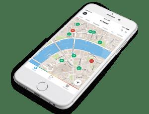 Kompas iPhone screenshot
