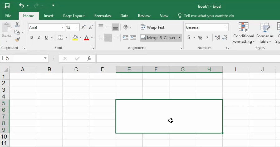 Combine cells in excel
