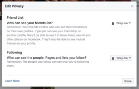 Facebook Friends Privacy Settings