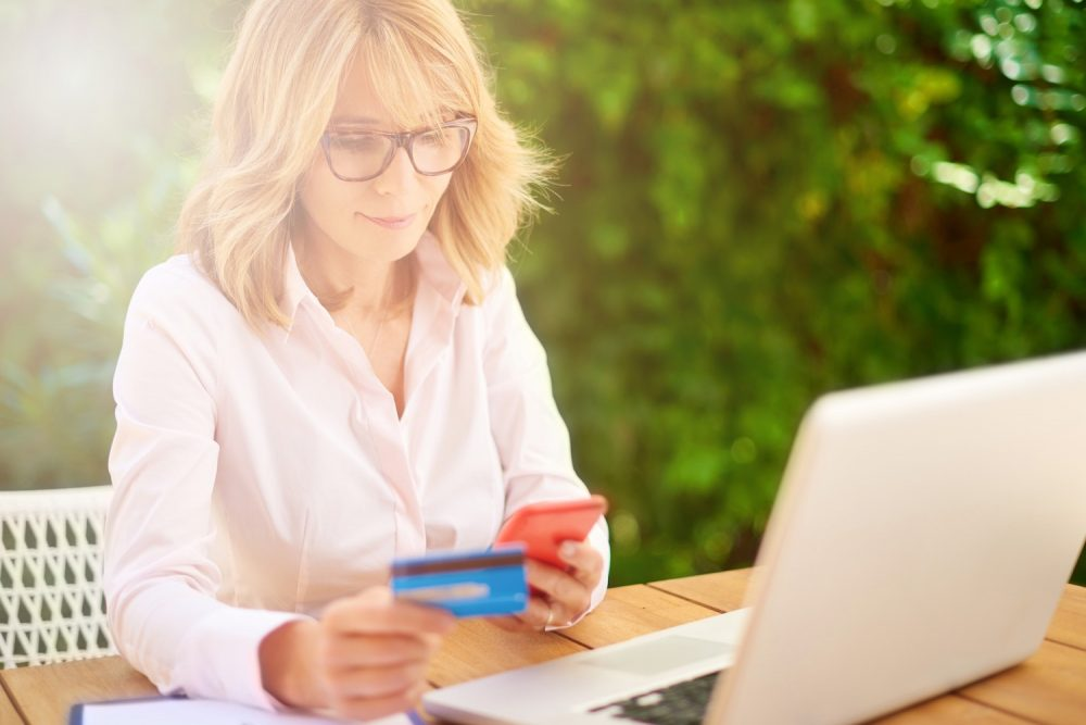 Mobile Banking at home