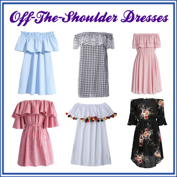 Cute Off-The-Shoulder Dresses!