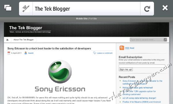Firefox 4 0 Maemo (22) - The Tek Blogger