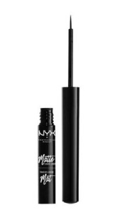 [Image description: NYX's Matte Liquid Liner in black on a white background] via nyxcosmetics.com