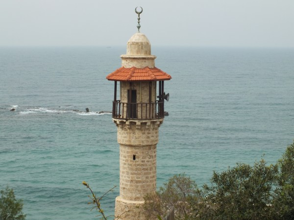 Mosque at Jaffa - seems to be stranded in the sea