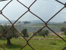 The wall from a distance