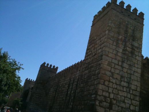 The walls of medieval Seville