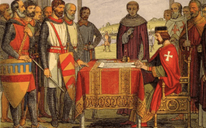 King John signs feminist Magna Carta