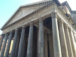 The front of the Pantheon