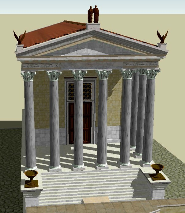 The temple as it appeared in the Roman period