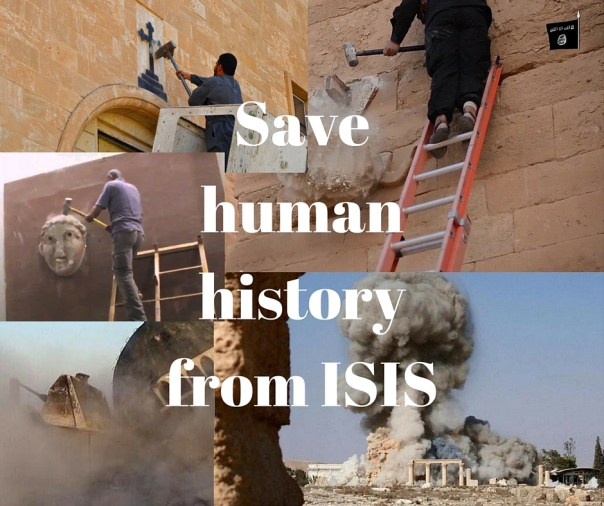 Save human history from ISIS