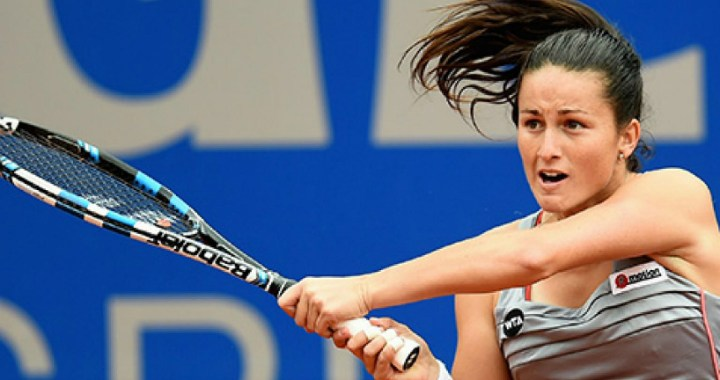 Auckland. Lara Arruabarrena took only four games from her opponent