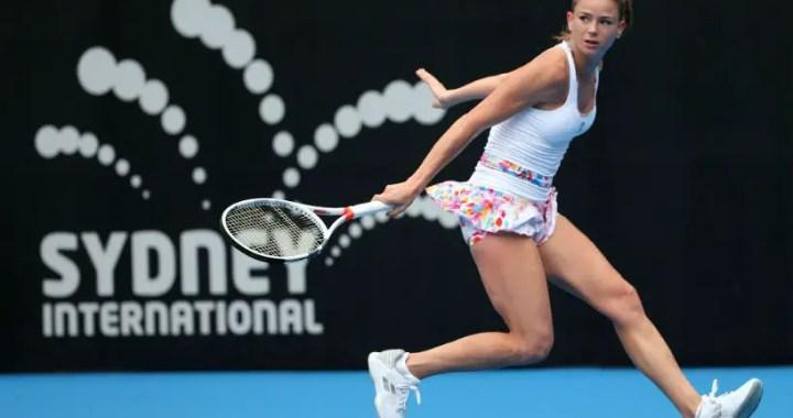 Camila Giorgi went to the second round of the Sydney tournament.