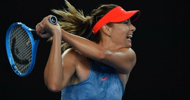 Maria Sharapova advanced to the third round of the Australian Open and will play with Caroline Wozniacki