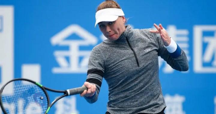 Shenzhen. Vera Zvonareva withdrew from the semifinal match