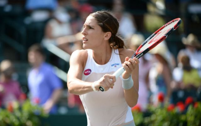 Budapest. Andrea Petkovic gave two game to her rival