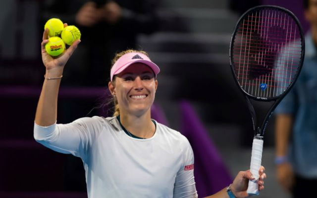 Doha Angelique Kerber reached the semifinals