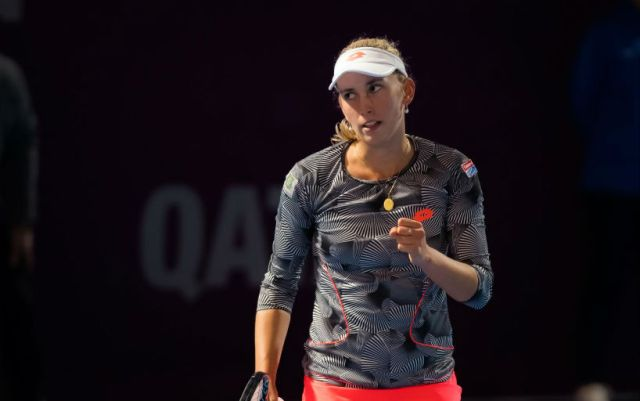 Doha Elise Mertens defeated Angelique Kerber and reached the final
