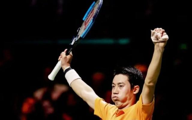 Kei Nishikori reached the semifinal of the tournament in Rotterdam