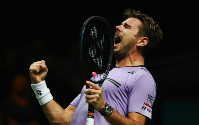 Stan Wawrinka: Managed to get excited at the end of the match