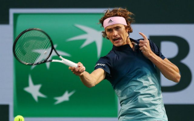 Alexander Zverev completed the performance in Indian Wells