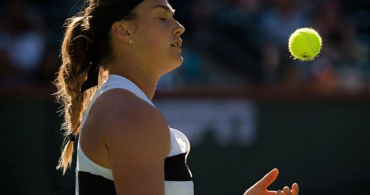 Aryna Sabalenka lost in the second round of the tournament in Miami