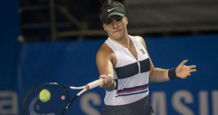 Bianca Andreescu failed to finish the 1/8 final match in Miami