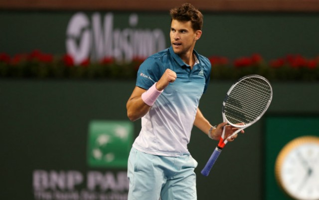 Dominic Thiem reached the final of the Masters in Indian Wells, beating Milos Raonic