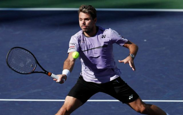 Indian Wells. Stan Wawrinka won a strong-willed victory in the first round