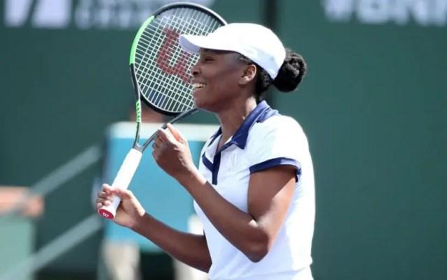 Indian Wells. Venus Williams won her starting match