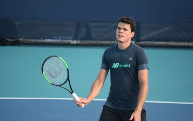 Miami. Milos Raonic without a fight went into the third round