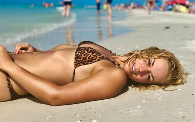 Sabine Lisicki posted a photo in a swimsuit