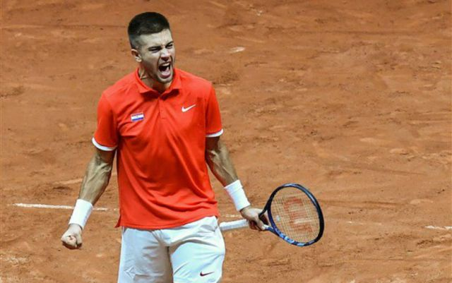 Borna Coric: played great in the end of the match